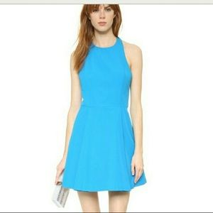 Alice + Olivia Christie Crew Neck Box Pleat Dress